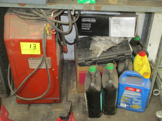 LOT-225 AMP LINCOLN WELDER & SUPPLIES-TRANSMISSION FLUID/CPS SCALE/ANTIFREEZE/