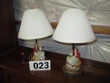 PAIR CERAMIC LAMPS