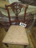 CARVED BACK CHAIR/FRENCH STYLE/PADDED SEAT-FRAGILE