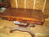 LARGE GAMING TABLE-MAHOGANY-EMPIRE STYLE-FLIP TOP 4 X 4 FT