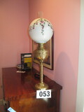 BRASS GAS LAMP CONVERTED TO ELECTRIC