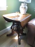 EASTLAKE STYLE WALNUT DROP LEAF TABLE
