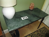 GREEN ONYX SIDE TABLE 18 X 42