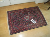 SMALL WOOL HAND KNOT RUG 40 X 30 IN APPROX 600 KNOT PSI?