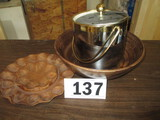 LOT-WOODEN DISH/EGG SERVING DISH /ICE CHEST