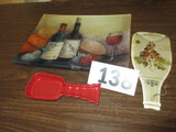 LOT-WINE /SERVING TRAY/SPOON REST/WALL HANGING