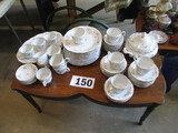 CHINA SET-JOHANN HAVILAND SERVICE FOR 12 BAVARIAN CHINA INCLUDES COFEE TABLE IT IS DISPLAYED UPON