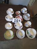 LOT-APPROX 12 TEA CUPS & SAUCERS