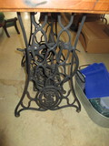 SINGER SEWING MACHINE TREADLE BASE WITH TABLE TOP