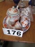 ORIENTAL PATTERN TEA SERVICE FOR 4
