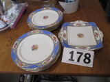 LOT-12 PLATES 2 RECTANGLE PLATES PARAGON BY HMSQUEEN MARY CHINA-14 PCS-TOTAL