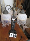VICTORIAN LAMP W/ 3 SWAGS