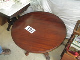 30 IN. ROUND CLAWFOOT MAHOGANY TABLE