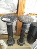 LOT-PR. BLACK MARBLE STANDS-40 IN HIGH