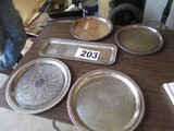 LOT-STERLING PLATE-(5) ASST PLATES ROUND & SQUARE