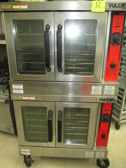 VULCAN CONVECTION OVENS OVER/UNDER VC4ED 220V3/1 PHASE HARD WIRED