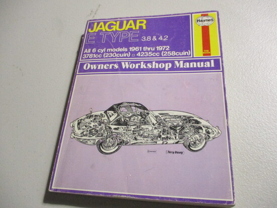 HAYNES E TYPE REPAIR MANUAL=SHIPPING EXTRA