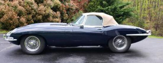 1965 XKE ROADSTER-3 OWNERS-56,456 INDICATED MILES