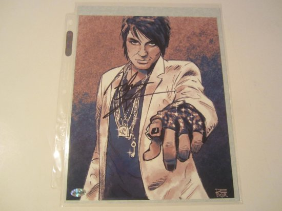 Adam Lambert, American Singer Hand Signed Autographed 8x10 Glossy Photo Americana Authentications Ce