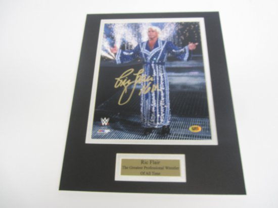 Ric Flair WWE, WWF, WCW signed autographed Matted 8x10 Photo CAS COA