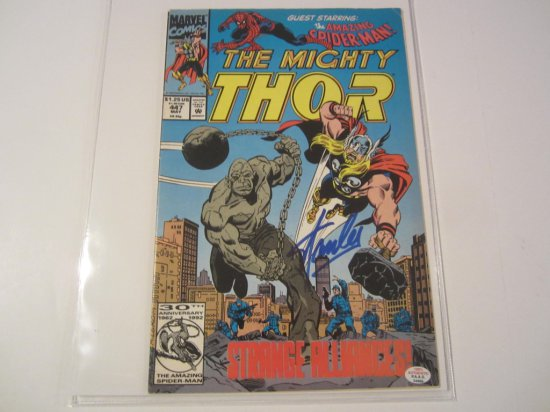 """Stan Lee """"Marvel"""" THOR signed autographed Comic Book PAAS Coa"""