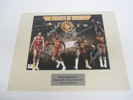 Miracle of Richfield Bingo Smith, Campy Russell, Austin Carr, Jim Chones Cleveland Cavaliers signed