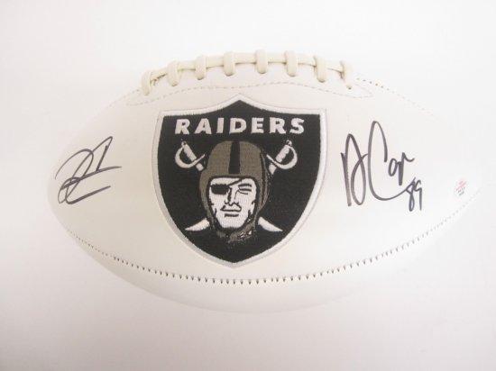 Derek Carr, Amari Cooper Oakland Raiders signed autographed Football PAAS Coa