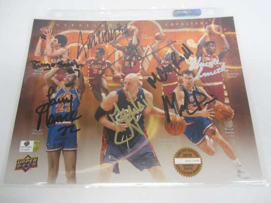 Mark Price, Austin Carr, Larry Nance and others Cleveland Cavalier Legends signed autographed 8x10 P