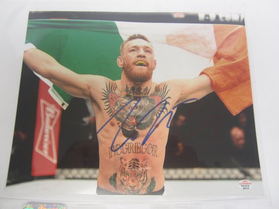 Connor McGregor signed autographed 8x10 Photo PAAS Coa