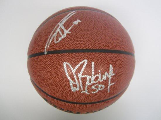 Tim Duncan, David Robinson San Antonio Spurs signed autographed Basketball PAAS Coa