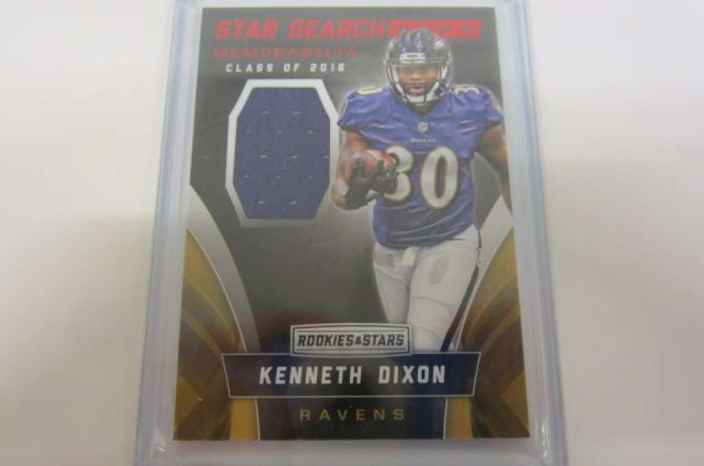 cheap for discount 982e6 55710 Lot: Kenneth Dixon Baltimore Ravens Piece of Game Used ...