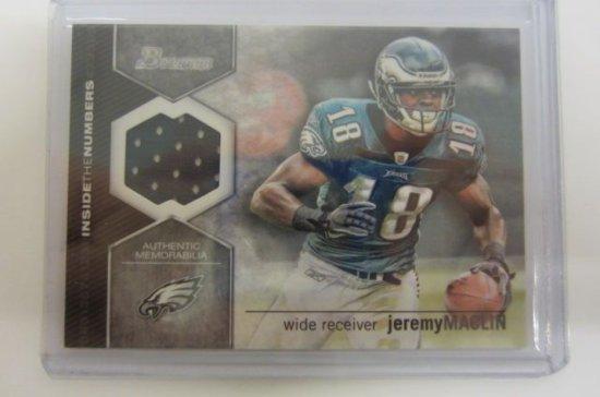 e135e3916 Jeremy Maclin Philadelphia Eagles Piece of Game Used Jersey Card