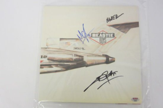 "BEASTIE BOYS Signed Autographed ""Licensed to Ill"" Record Album Certified CoA"