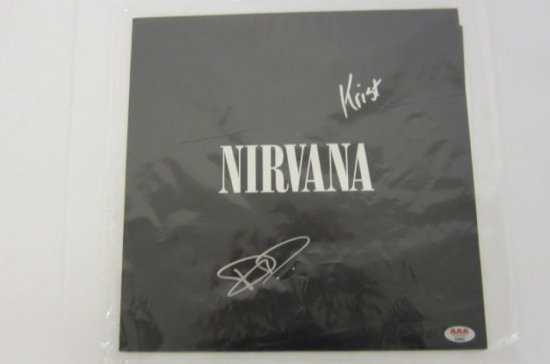 NIRVANA Signed Autographed Nirvana Record Album Certified CoA