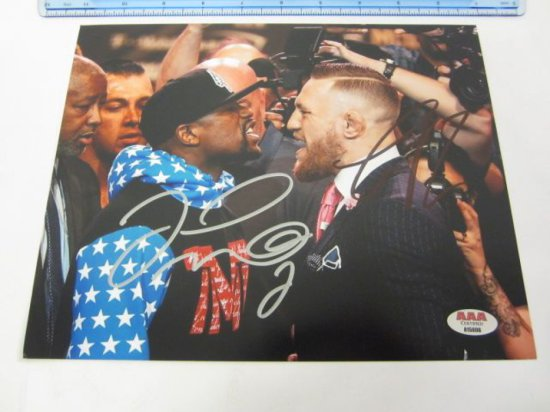 FLOYD MAYWEATHER & CONOR McGREGOR Signed Autographed 8x10 Photo Certified CoA