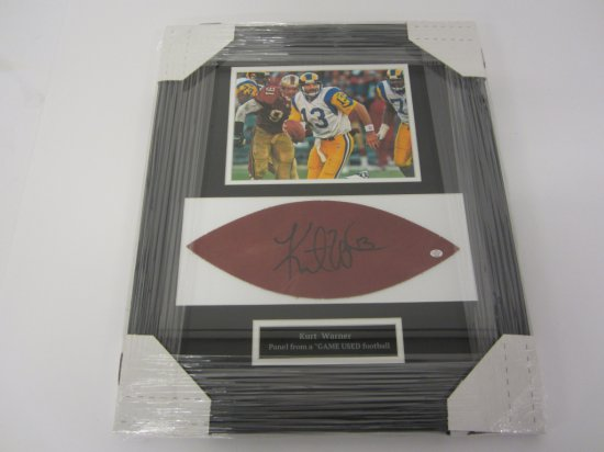 Kurt Warner St. Louis Rams signed autographed framed Game Ball Football Panel PAAS Coa