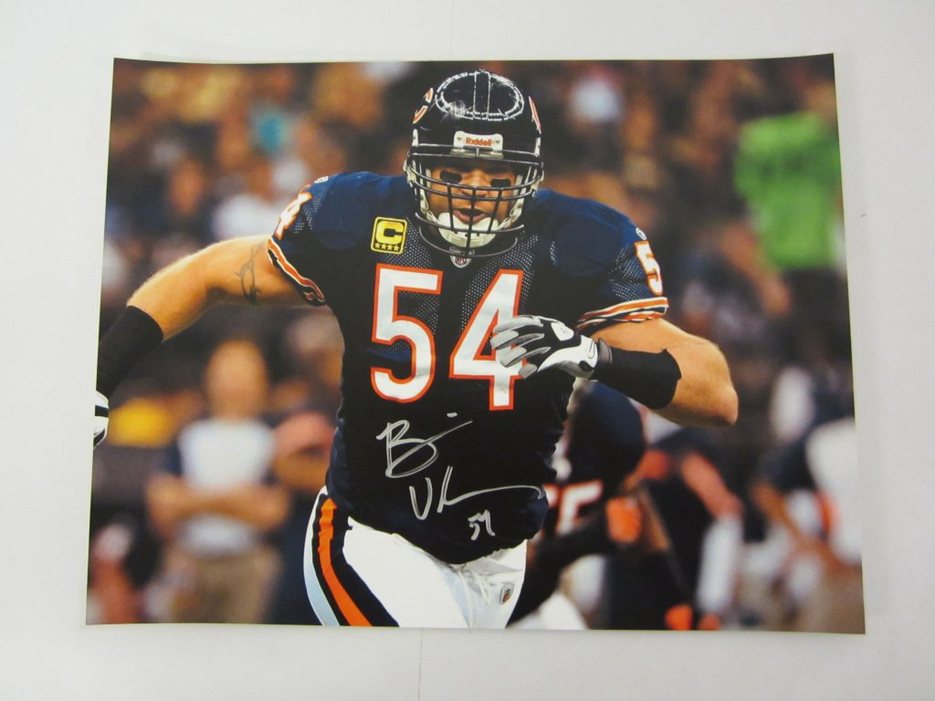 online store 02c0b 5c533 Lot: BRIAN URLACHER Chicago Bears Signed Autographed 11x14 ...