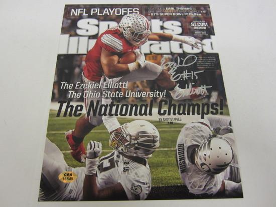 8862d5ec3a1 EZEKIEL ELLIOTT OSU Buckeyes Signed Autographed Sports Illustrated Magazine  Certified CoA