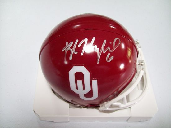 Baker Mayfield Oklahoma Sooners Signed Autographed football mini helmet  Certified COA e08a2cb66