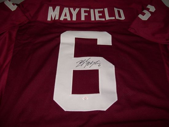 online store 46827 506c0 Baker Mayfield Oklahoma Sooners Signed Autographed football ...