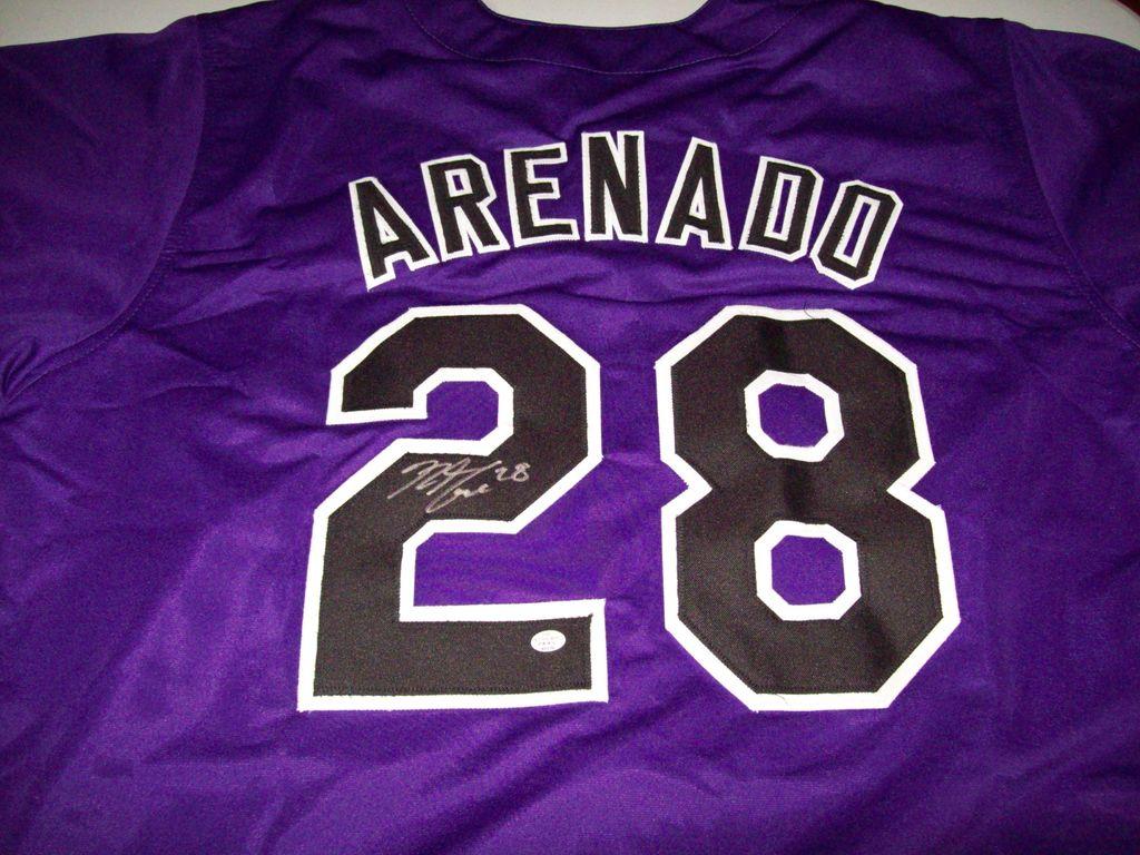 detailed look b9607 1be1a Lot: Nolan Arenado Colorado Rockies Signed Autographed ...