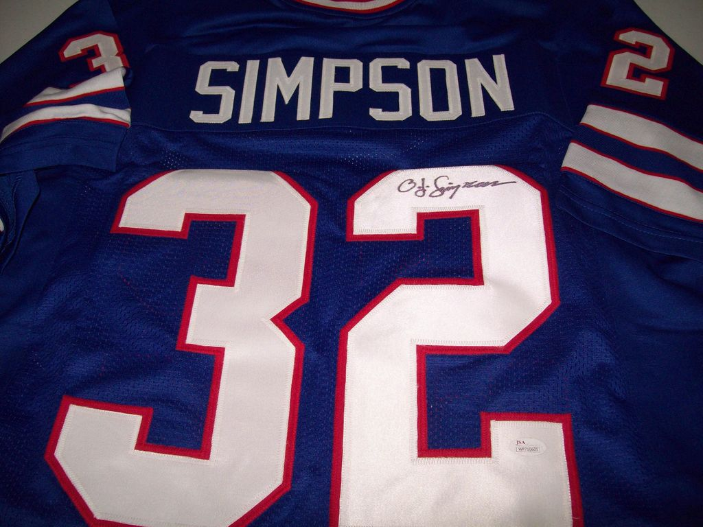 official photos 77746 f1cdc Lot: OJ Simpson Buffalo Bills Signed Autographed football ...