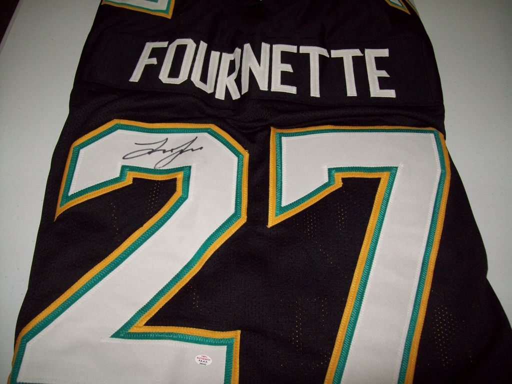 6b2ba475a Leonard Fournette Jacksonville Jaguars Signed Autographed football jersey  Certified COA ...