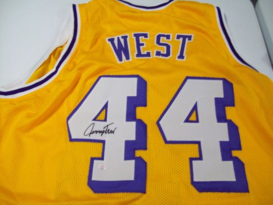 84dd0d8bd Jerry West Los Angeles Lakers Signed Autographed basketball jersey  Certified COA