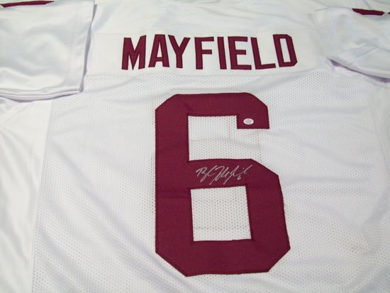 online store f041e c4d52 Baker Mayfield Oklahoma Sooners Signed Autographed football ...