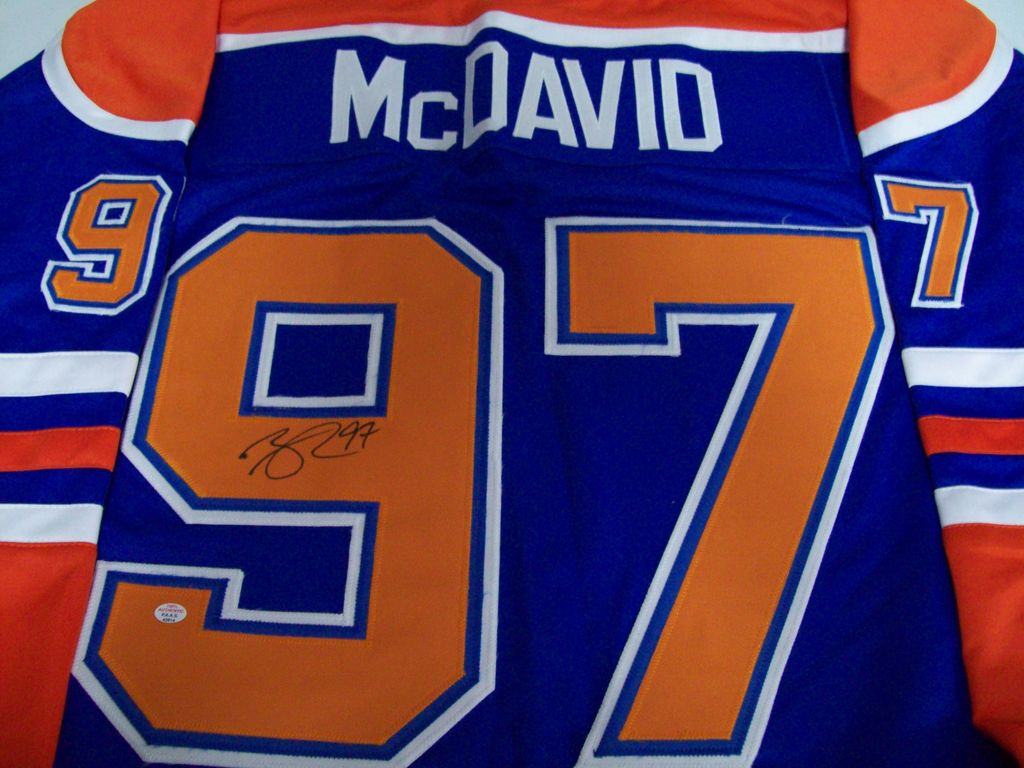 official photos 9cd0f 82f5a Lot: Connor McDavid Edmonton Oilers Signed Autographed ...