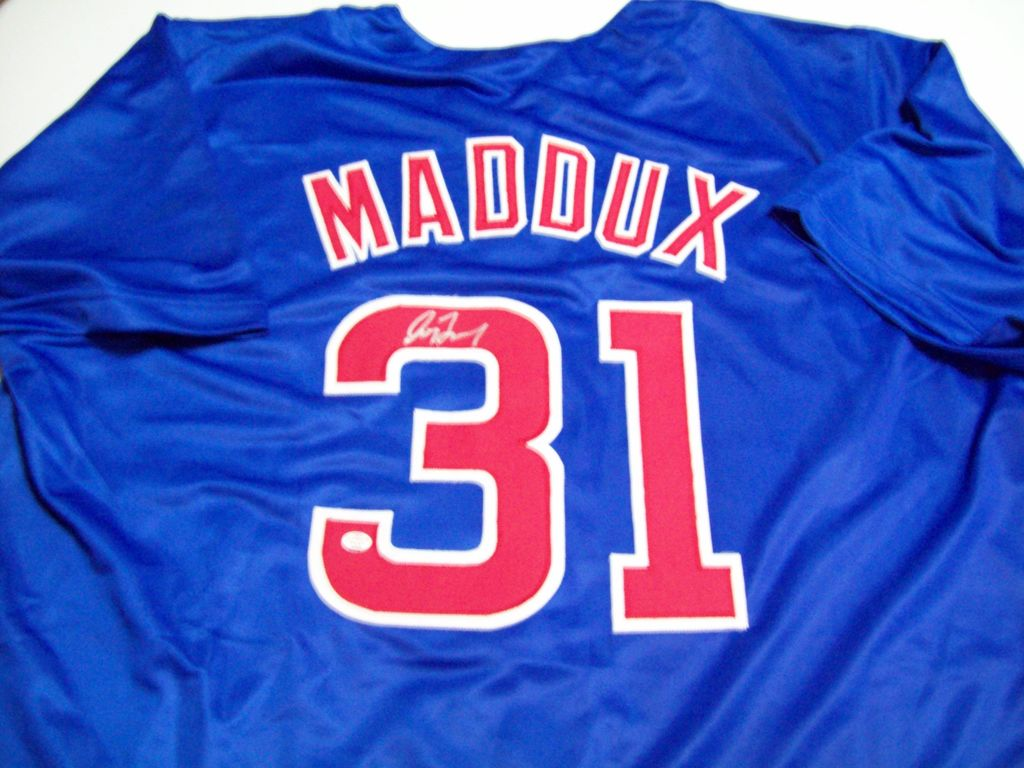 san francisco 4a5fc 0dcec Lot: Greg Maddux Chicago Cubs Signed Autographed baseball ...