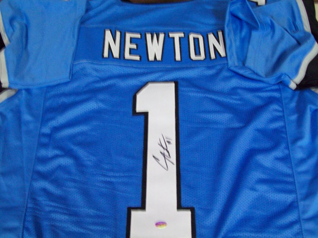 new product 9da72 fd6b2 Lot: Cam Newton Carolina Panthers Signed Autographed ...