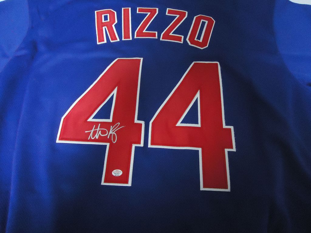 uk availability 56f1b 02ad1 Anthony Rizzo Chicago Cubs Sig... Auctions Online | Proxibid