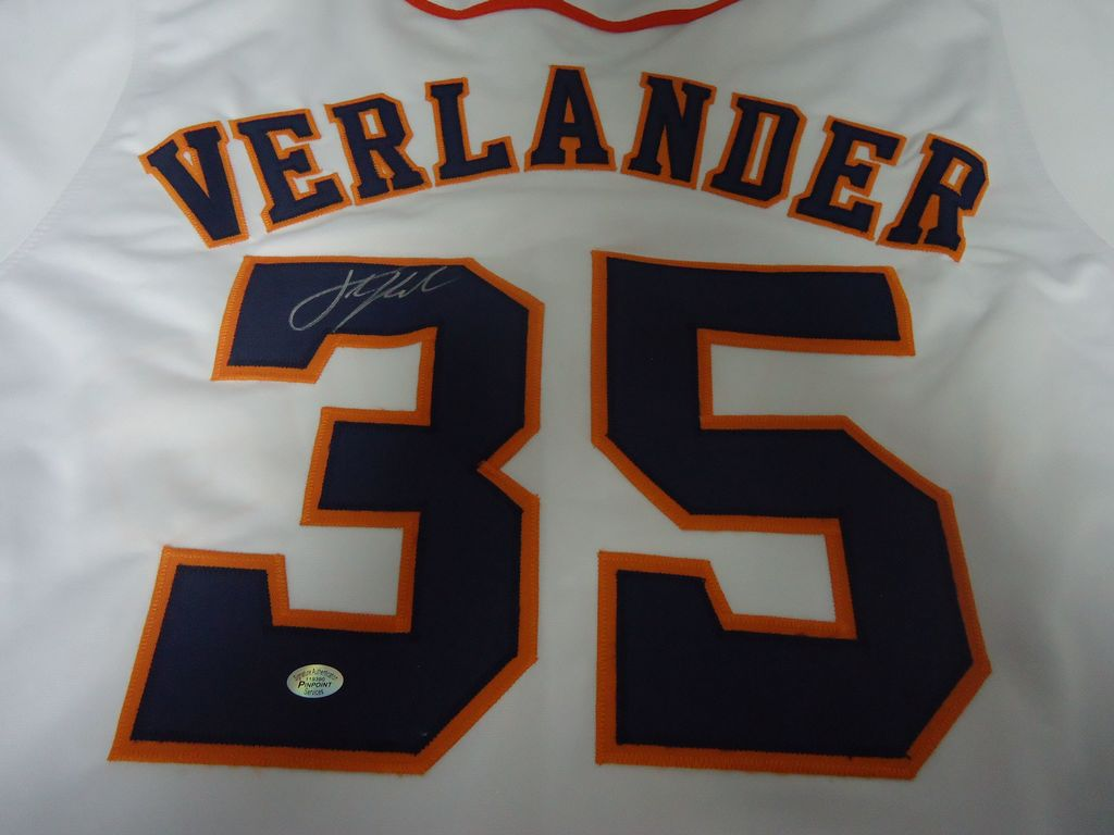 reputable site 85bd0 1908e Lot: Justin Verlander Houston Astros Signed autographed ...